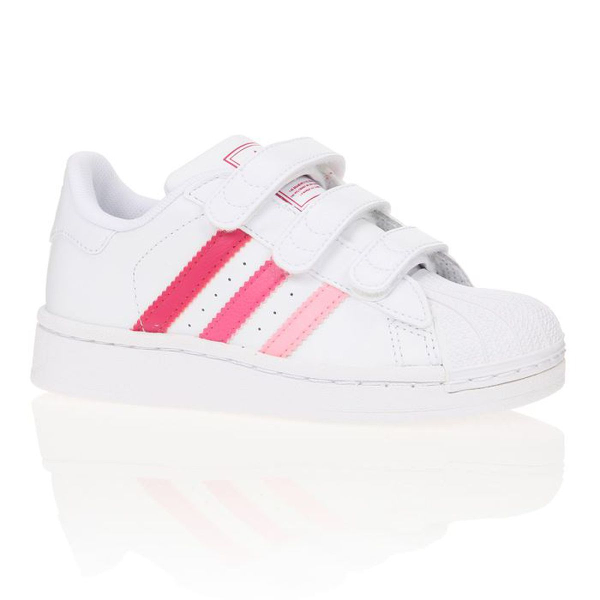 adidas originals baskets superstar 2 enfant fille blanc. Black Bedroom Furniture Sets. Home Design Ideas
