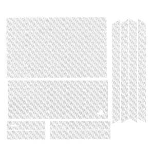 STICKER - SKIN CONSOLE Sticker aspect carbone Blanc pour PS4