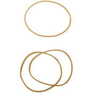 Boite De 100g Fournitures de bureau Bracelet Caoutchouc Blond 90x03mm
