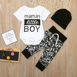 Ensemble de vêtements Nouveau-né Kid bébé garçon Vêtements 3pcs Lettre R