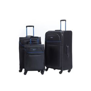 SET DE VALISES VERAGE - Ensemble de 3 Valises souples 4 Roues dou