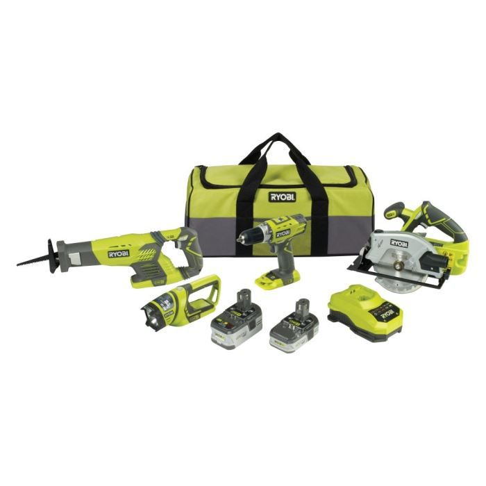 ryobi pack 4 outils 18v lithium achat vente batterie. Black Bedroom Furniture Sets. Home Design Ideas