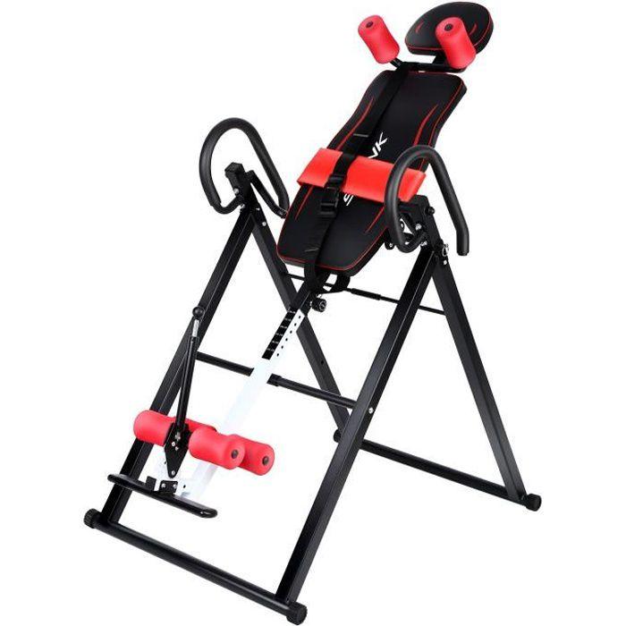 Yonntech Table d'Inversion Pliable Planche Sport Musculation Réduit les Maux de Dos 180°