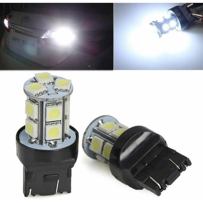 Ampoule T20 LED W21/5W Blanc 6500K Veilleuse de jour Feux 13 SMD