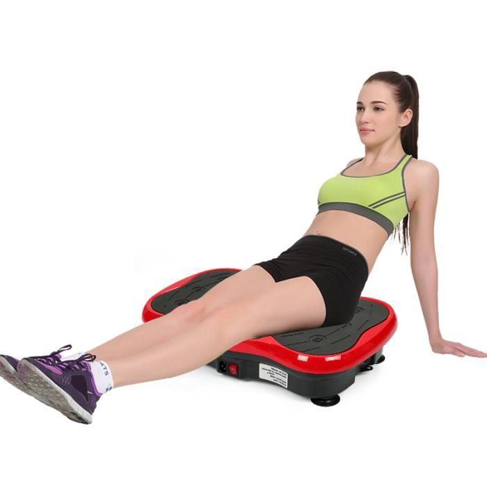 KEKE-Fitness Plateforme Vibrante Papillon 10 Programme Pro Plateforme Oscillante Avec haut-parleur USB Rouge/Noir