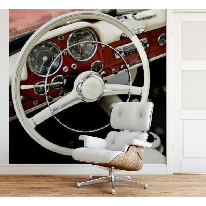 Papier peint finition satiné pré-encollé -Intérieur de voiture rétro- L, 274 x H, 270 cm