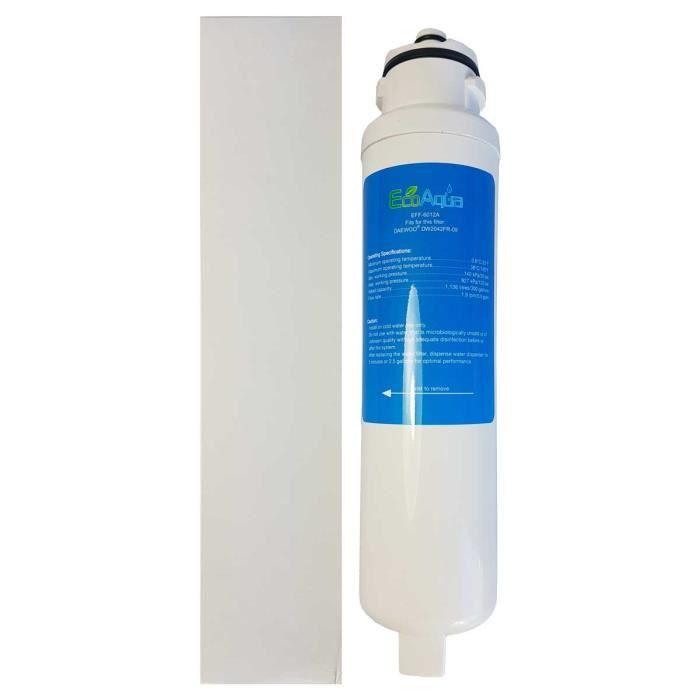 Le filtre DAEWOO EF6012A ECO AQUA est un filtre à eau interne pour réfrigérateurs américains DAEWOO qui remplace les références s...
