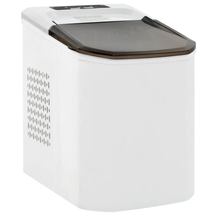 Appareil à glaçons Machine à glaçons silencieuse Glacière Blanc 1,4 L 15 kg - 24 h