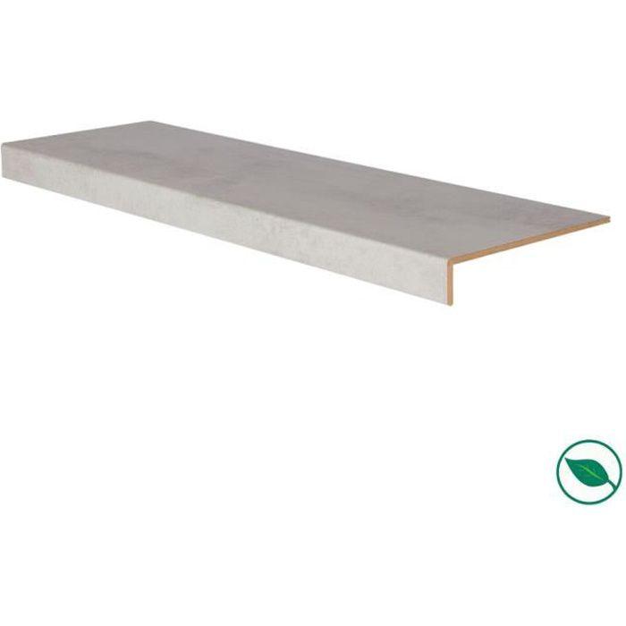 Marche rénovation d'escalier stratifié light grey 1000 x 300 x 5,6 mm . FORESTEA Dimensions : 1000 mm x 300 mm x 5.6 mm