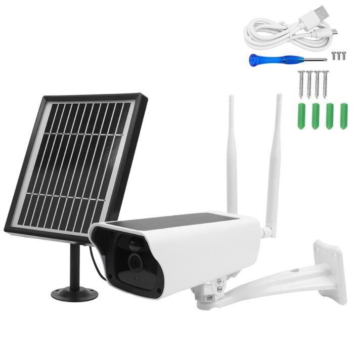 Caméra IP solaire 1080P, caméra extérieure sans fil avec panneau solaire 6W, prise en charge de la détection de mouvement Vision