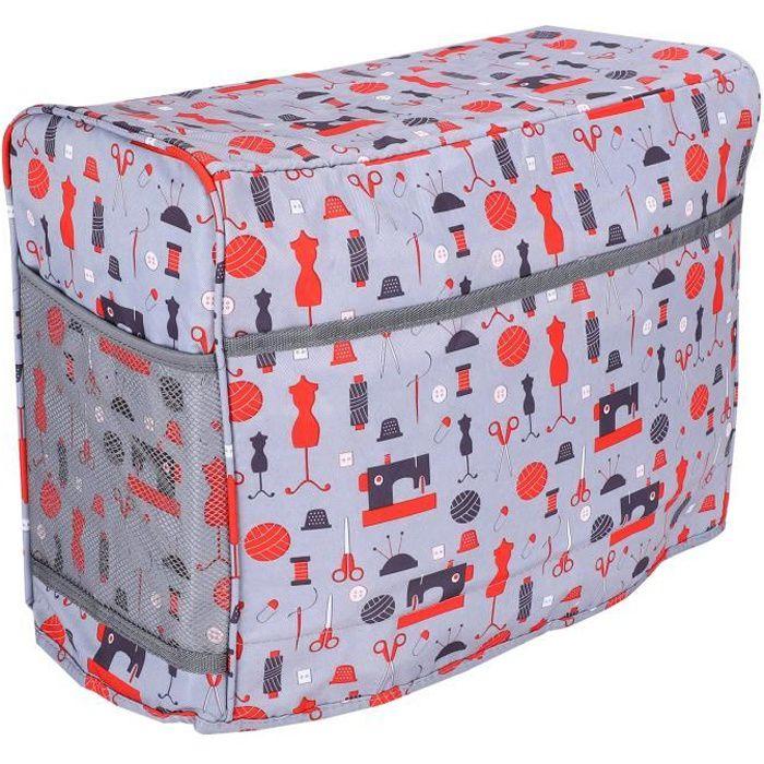 HURRISE Sac de transport pour machine à coudre Machine à coudre sac de transport housse de protection outils de tricot domestique