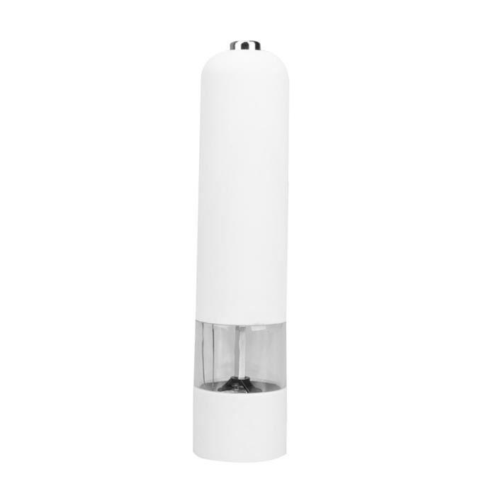 Blender,Électrique Automatique Moulin à Poivre et À Sel Lumière Poivre Épices Moulins à Grains De Meulage De - Type WHITE