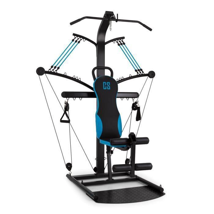 CAPITAL SPORTS Hawser Appareil fitness câble noir-bleu acier