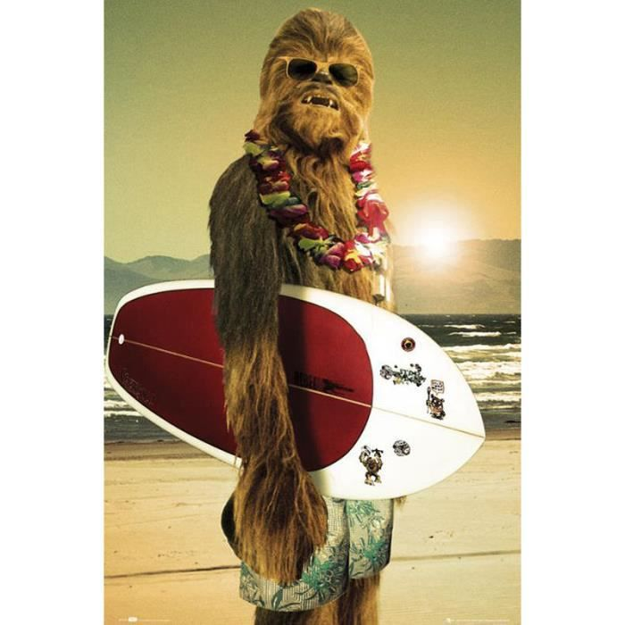 Poster Star Wars Chewbacca Surfing