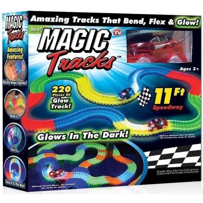 MAGIC TRACKS - Circuit lumineux + Voiture rouge