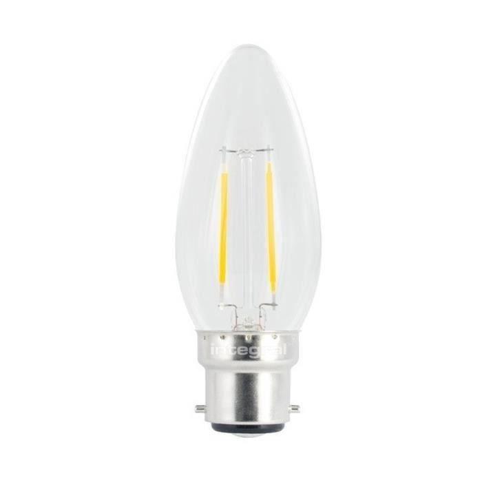 INTEGRAL LED Ampoule flamme filament B22 250lm 2W équivalent à 25W