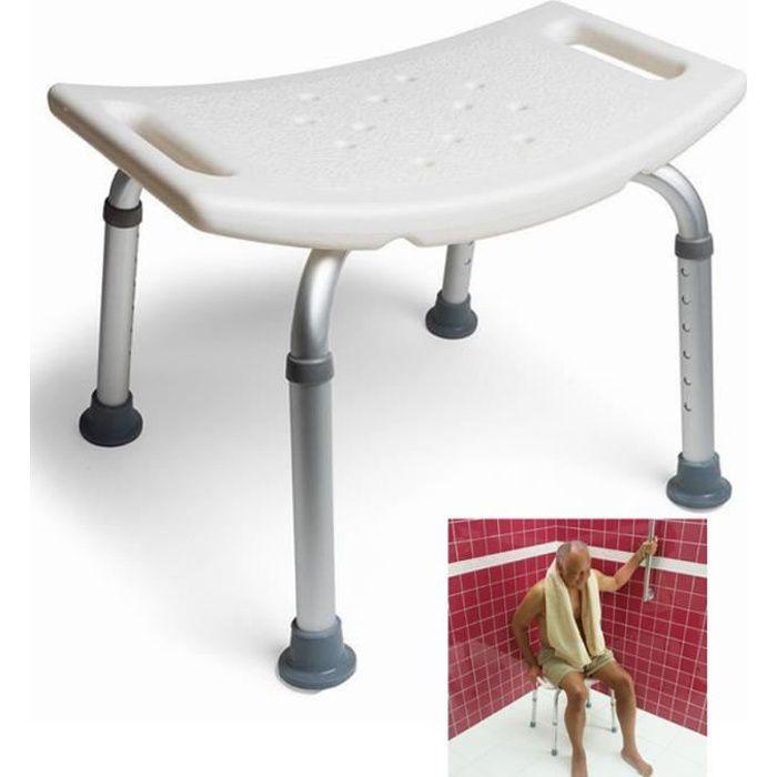 MCTECH Siège de Douche Tabouret de Douche à Hauteur réglable chaise de douche Médical Bain 136KG pied en aluminium