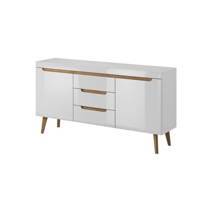 Commode NORDY 160 cm - blanc