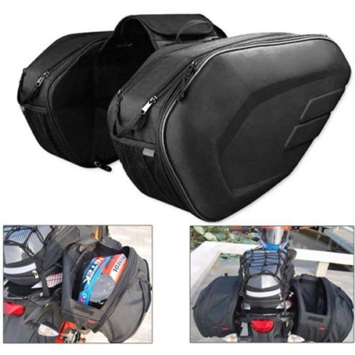1 paire de sacoches de moto sacoches bagages valise moto siège arrière sac sac de selle avec housse étanche