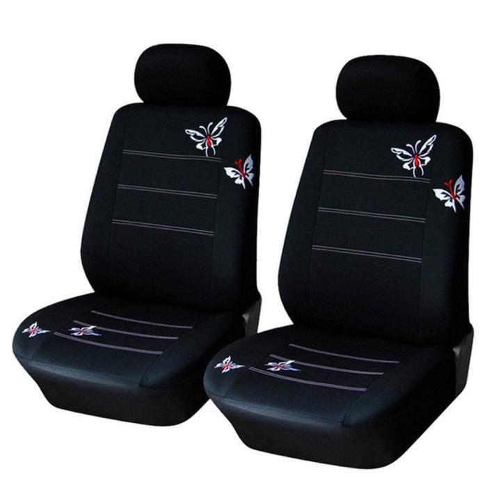 Housse de siège universelle pour voiture papillon noir ensemble de 4 pièces