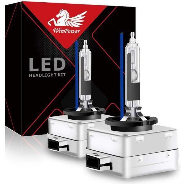 D1S D1R Ampoule Xénon Feu HID Winpower Lampe de Remplacement pour 35W Voiture Phare Avant 8000K 2pcs