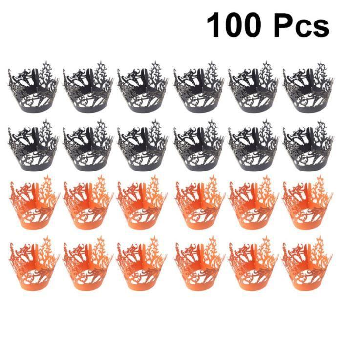 100 Pcs Wrappers Gâteau Creux De Mode Modèle Conception Cupcake Décor Mariage Fête D'anniversaire Baby Shower GATEAU PATISSIER
