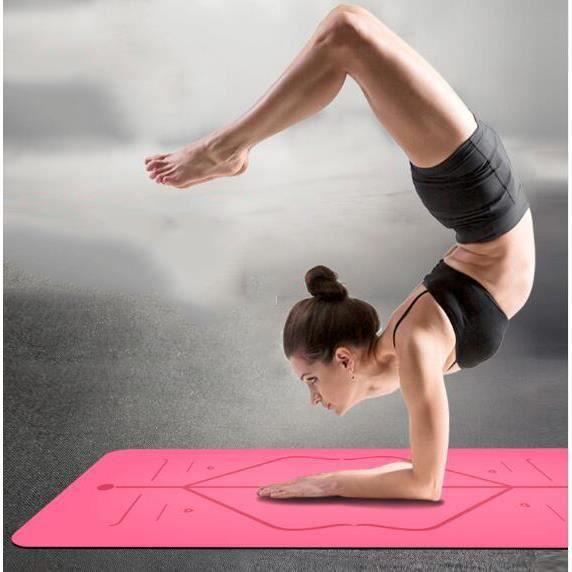 Tapis de yoga - antidérapant en caoutchouc naturel, Un Tapis Yoga pour Adultes et Enfants Parfait pour Sport au Sol/Fitness