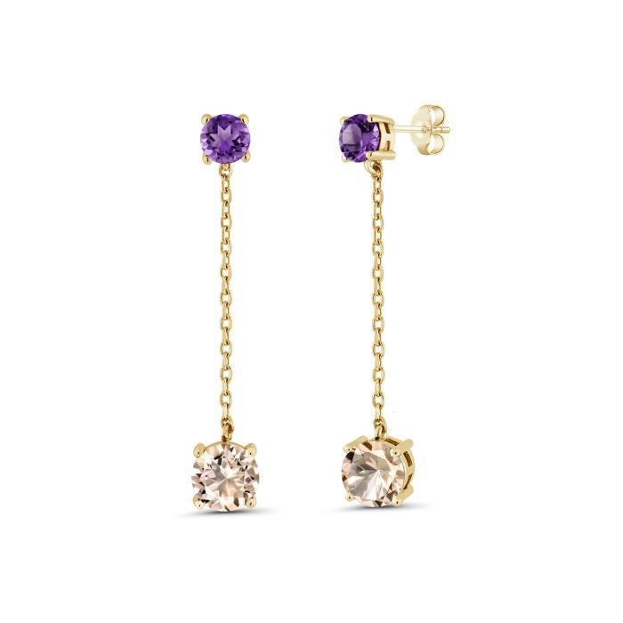 - Coccinelle Or 18 Cts Boucles dOreille Femme Miore
