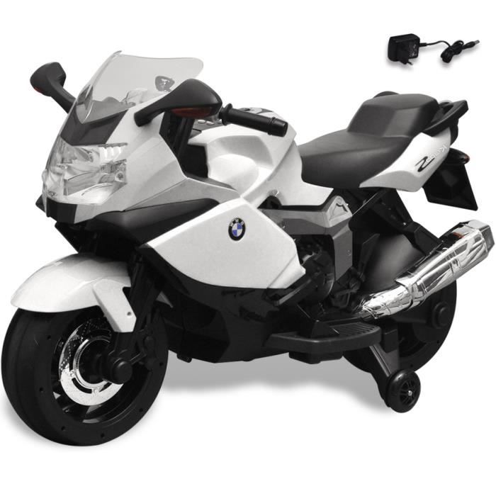moto lectrique bmw 283 noir et blanc pour enfant achat vente moto scooter cdiscount. Black Bedroom Furniture Sets. Home Design Ideas