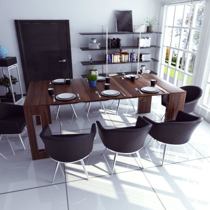 Table Extensible Table Salle A Manger Roma 80 Cm Chene