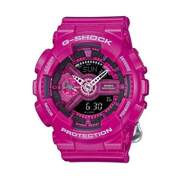 montre casio g shock femme rose et grise gma s110mp 4a3er achat vente montre montre casio g. Black Bedroom Furniture Sets. Home Design Ideas