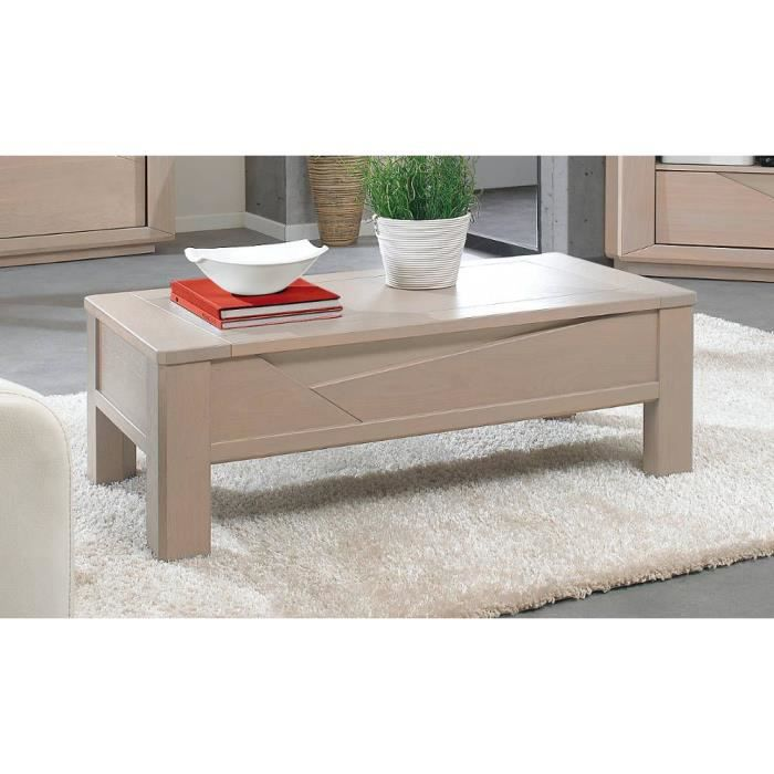 Table Basse Macao Ch Ne Naturel Achat Vente Meuble