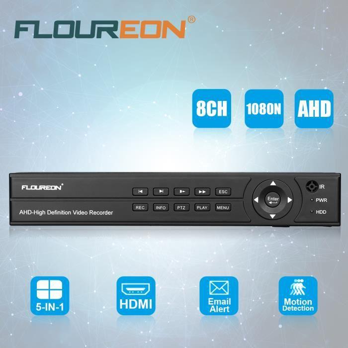 LECTEUR DVD FLOUREON DVR Enregistreur Caméra IP 1080P H.264 Sé