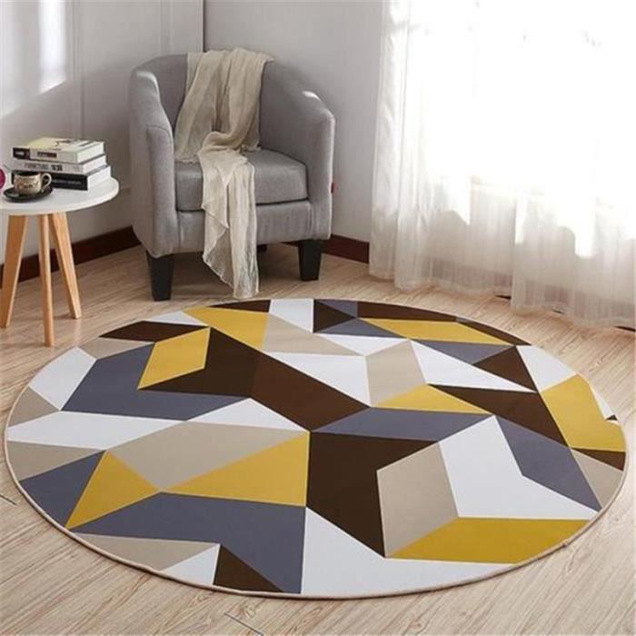 Design Moderne Bleu Sarcelle Tapis Jaune Abstrait zone doux rayé salle de séjour tapis