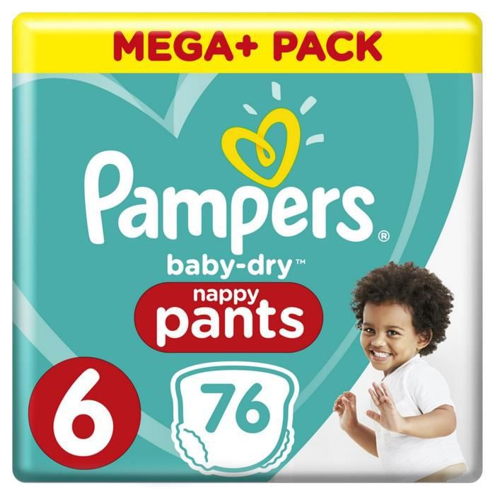 Couches Pampers Baby-Dry Pantalon taille 6 ... 15+kg 128 couches culottes