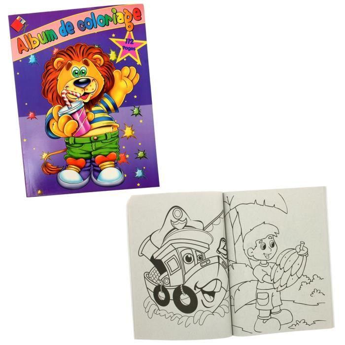 Album De Coloriage 112 Pages Enfant Jouet Lion Achat Vente Livre De Coloriage Cdiscount