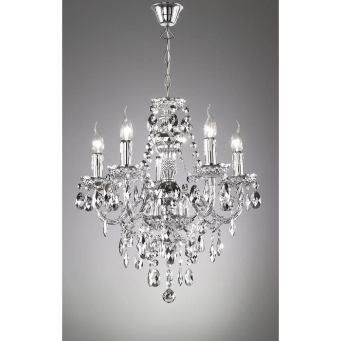 lustre baroque 5 lampes achat vente lustre baroque 5 lampes cdiscount. Black Bedroom Furniture Sets. Home Design Ideas