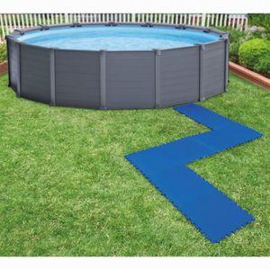BÂCHE - COUVERTURE  Bâches de sol de piscine 8 Pcs 50 * 50 cm Bleu