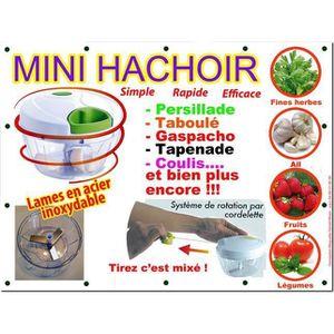 HACHOIR MANUEL Mini hachoir manuel NOUVEAU 3 LAMES+ 1 BATTEUR !
