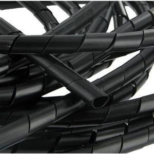 CÂBLE - FIL - GAINE Gaine spiralée 4 à 50 mm noire 10 mètres