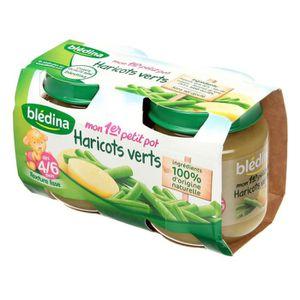 PURÉES DE LÉGUMES BLEDINA Mon 1er petit pot Haricots verts - 2x130 g