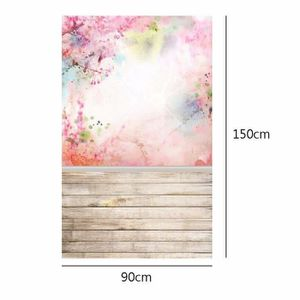 FOND DE STUDIO SMRT Toile de Fond Tissu 90x150cm fleurs roses Pho