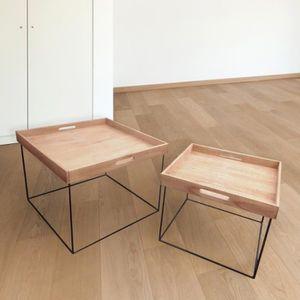 TABLE BASSE Table basse jardin / Lot de 2 tables basses - TEAK