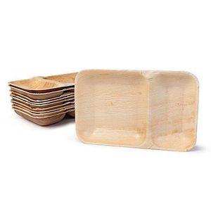 BIOZOYG DTW05409 Assiette jetable en feuille de palmier ronde 25 pi/èces /Ø15 cm compostable