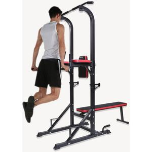 BANC DE MUSCULATION ISE Chaise romaine Station traction dips multifonc