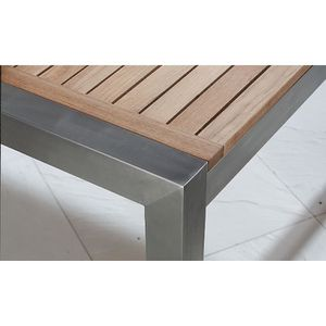 Awesome Table Jardin Teck Inox Images - House Interior ...