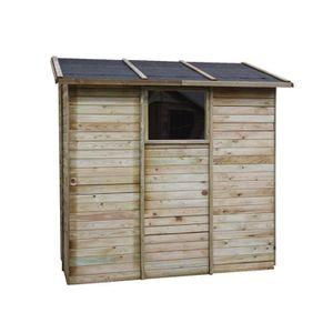 ABRI JARDIN - CHALET Abri de rangement adossé en bois 2,63 m² Elisa