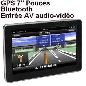 GPS AUTO GPS Bluetooth-Main-libre 7 pouce Système vocal-FM