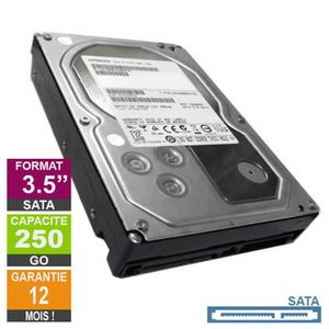 DISQUE DUR INTERNE Disque Dur 250Go SATAII 3.5 Hitachi HDT721025SLA38