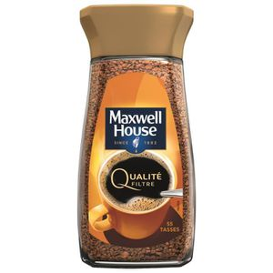 CAFÉ Maxwell House Qualité Filtre cafe soluble bocal -1